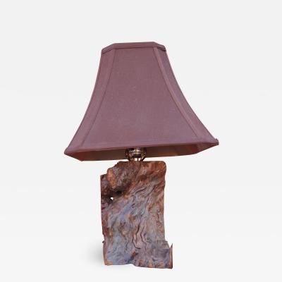 Mid Century Walnut Burl Table Lamp