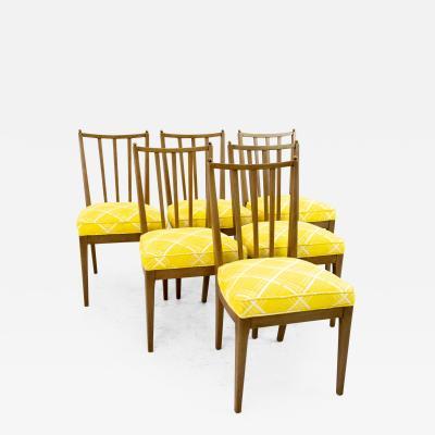 Mid Century Walnut Dining Chairs Set of 6