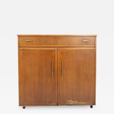Mid Century Walnut Refrigerator Bar