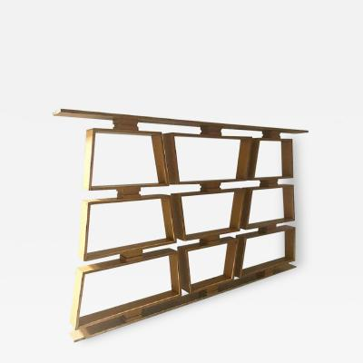 Mid Century Wood Room Divider Shelves