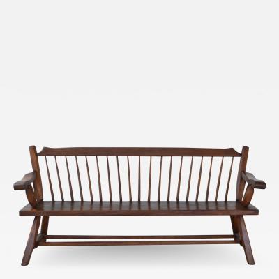 Mid Century Wooden Bench