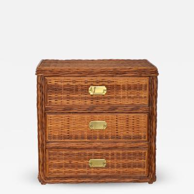 Mid Century Woven Rattan Dresser