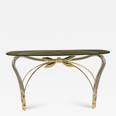 Mid century Lucite Bow console table