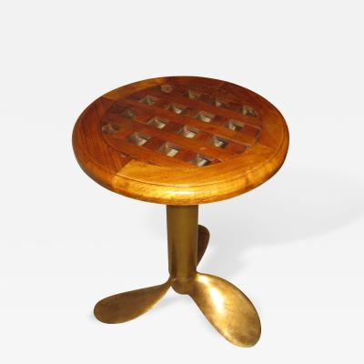 Midcentury Boat Propeller End Table 1960 Era