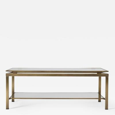 Midcentury Brass Two Tiered Coffee Table