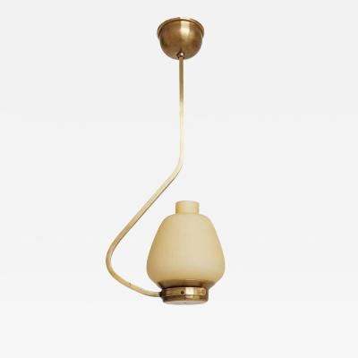 Midcentury Brass and Glass Ceiling Light