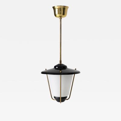 Midcentury Brass and Glass Lantern