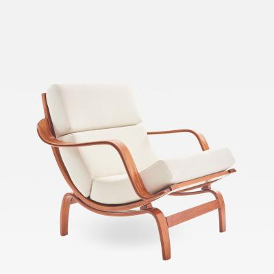 Midcentury Danish Bentwood Lounge Chair