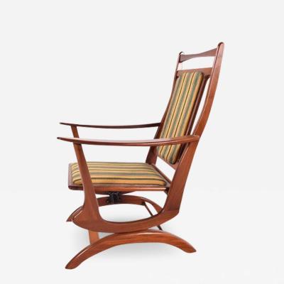 Midcentury Danish Spring Rocking Chair in Teak 1960