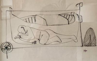 Midcentury Drawing