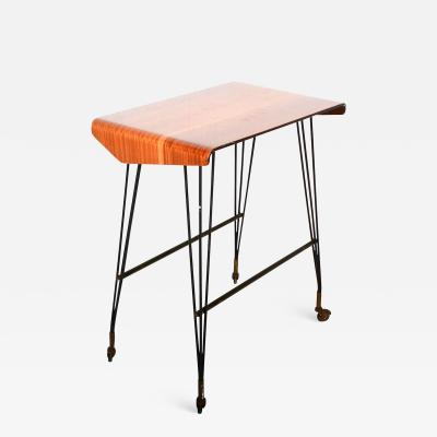 Midcentury ITALY Stay at Home TV Carrello Table Rolling Desk Media Office