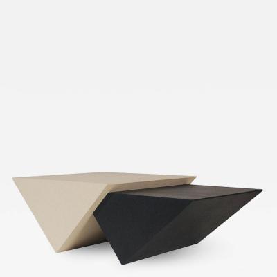 Midcentury Italian Postmodern Black and White Pop Art Triangular Cocktail Table