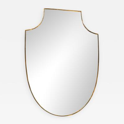 Midcentury Italian Shield Shape Mirror 1960s