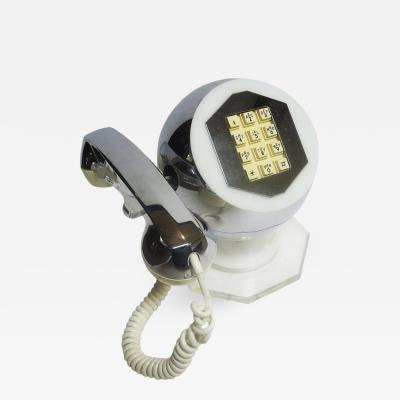 Midcentury Lucite and Chrome Telephone by TeleConcepts Inc 1977