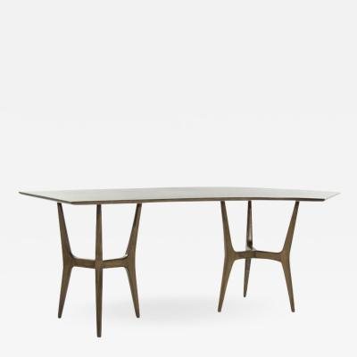 Midcentury Modern Asymmetrical Walnut Desk
