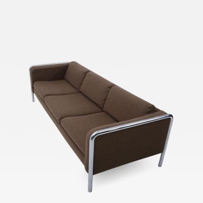 Midcentury Modern Sofa onTubular Chrome 1970 s