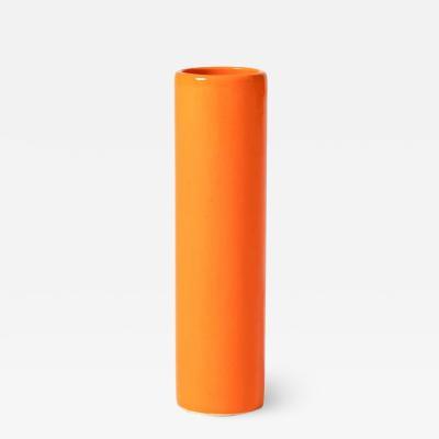 Midcentury Orange Ceramic Vase