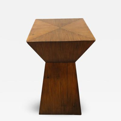 Midcentury Wood Accent Table Pedestal