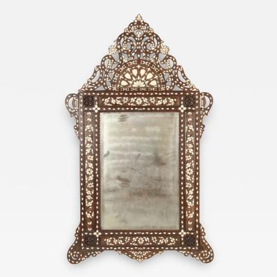 Middle Eastern Mother of Pearl Inlaid Mirror