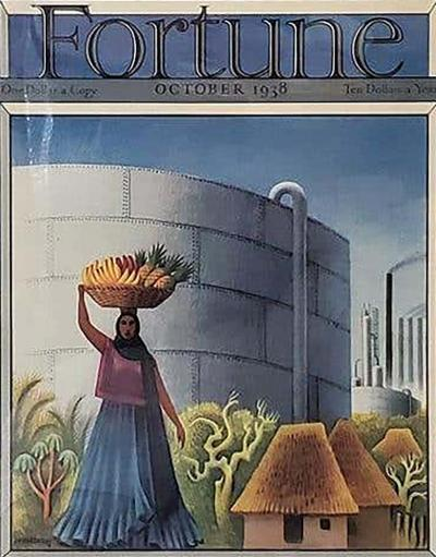 Miguel Covarrubias Art Deco Fortune Magazine Cover October 1938
