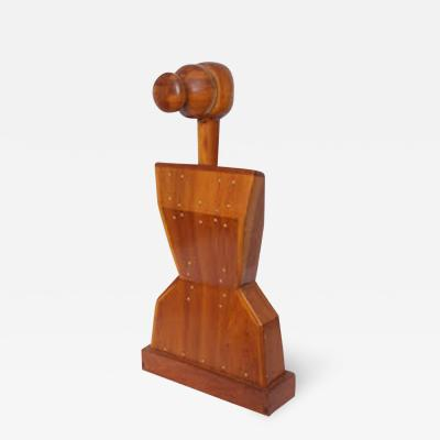 Mike Nevelson Mike Nevelson Sculpture abstract female torso wood 1961
