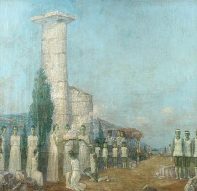 Mikhail Dmitrievich Todorov Large Oil On Canvas by Ukranian Artist Mikhail Dmitrievich Todorov