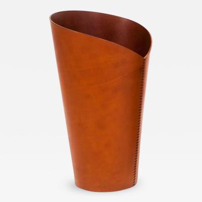 Mikkel Magnussen Leather Paper Bin by Mikkel Magnussen