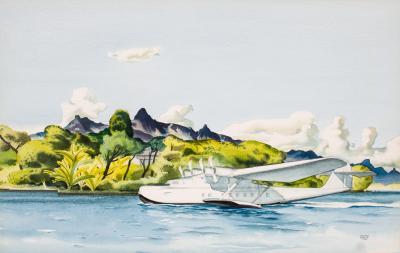 Millard Owen Sheets Honolulu Arrival in Pan Am China Clipper