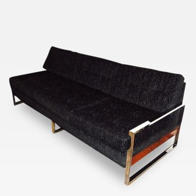 Milo Baughman 1960s Chrome Plated Sofa By Milo Baughman