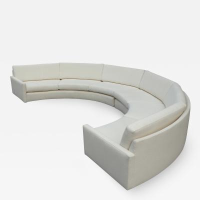 Milo Baughman 1970s Milo Baughman for Thayer Coggin Circular Sofa Fully Restored