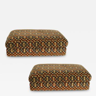 Milo Baughman 2 American Mid Century 1970s Oversized Rolling Ottoman with a Lift Top