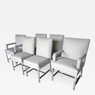 Milo Baughman 6 Directional Chairs