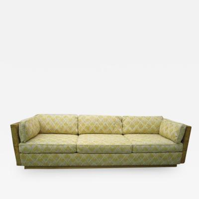 Milo Baughman Amazing Burled Olivewood Milo Baughman Style Case Sofa Mid Century Modern