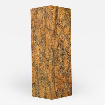 Milo Baughman Burl Cork Pedestal Attributed to Milo Baughman