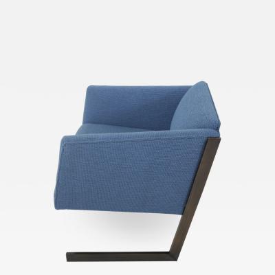 Milo Baughman Cantilever Bronze Lounge Chair 1970 s
