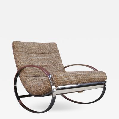 Milo Baughman Chrome Rocking Chair by Milo Baughman