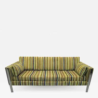 Milo Baughman Excellent Milo Baughman Chrome Leg Sofa Mid Century Modern