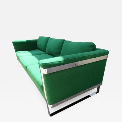 Milo Baughman Excellent Milo Baughman style Chrome Flatbar Sofas Mid Century Modern