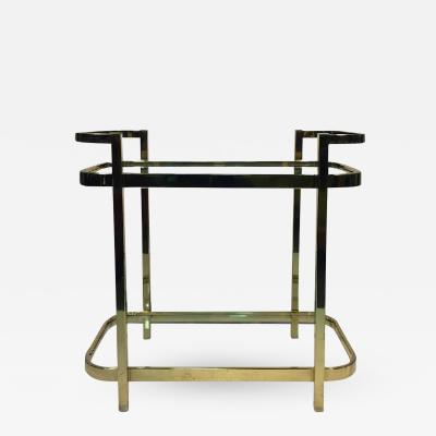 Milo Baughman Exceptional Brass Bar Cart by Milo Baughman