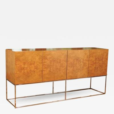 Milo Baughman Exemplary Bookmatched Olivewood Credenza by Milo Baughman for Thayer Coggin