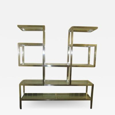 Milo Baughman Fabulous Chunky Aluminum Large Scale Etagere Mid Century Modern
