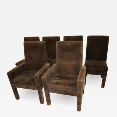 Milo Baughman Gorgeous 6 Signed Milo Baughman Upholstered Dining Chairs Mid century Mod