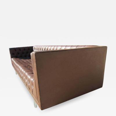 Milo Baughman Gorgeous Mid Century Modern Tufted and Chrome Sofa Milo Style