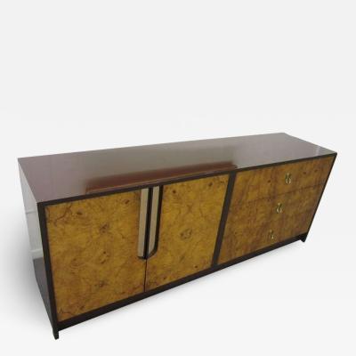 Milo Baughman Gorgeous Milo Baughman Burled Wood Credenza Mid century Modern