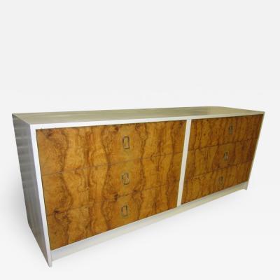 Milo Baughman Gorgeous Milo Baughman Olive Wood Credenza Mid century Modern