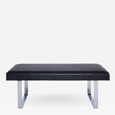Milo Baughman Impeccable Mid Century Bench in the style of Milo Baughman