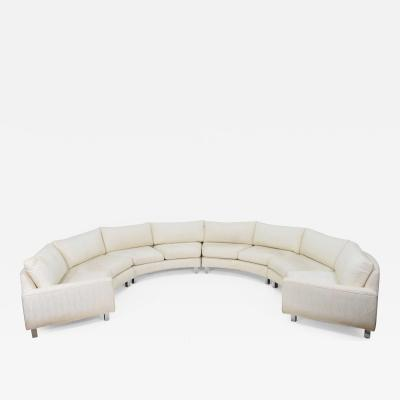Milo Baughman Large Milo Baughman Four Section Circular Sofa