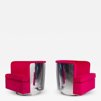 Milo Baughman Lounge Chairs by Milo Baughman for Thayer Coggin