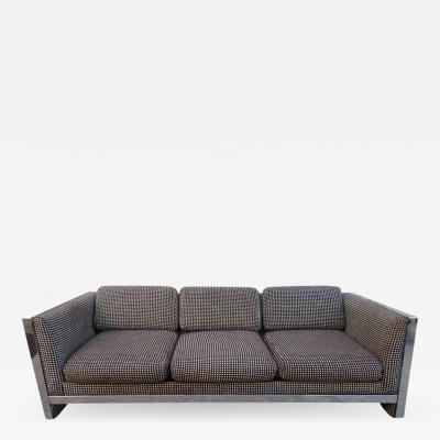 Milo Baughman Lovely Chunky Chrome Milo Baughman Style Mid Century Modern Sofa