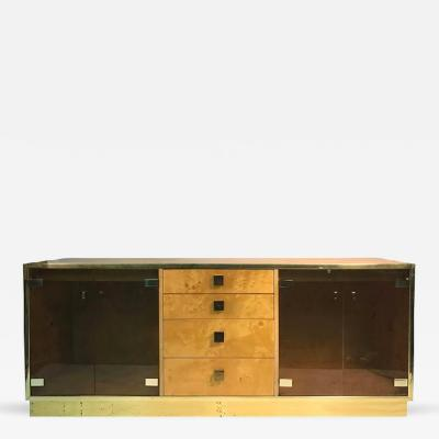 Milo Baughman Magnificent Burl Wood Four Drawer Sideboard or Credenza by Milo Baughman
